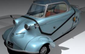 犀利创意外形墨镜甲壳虫造型复古三轮车C4D模型