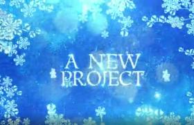 冰雪世界雪花纷飞九段文字字幕展示视频AE模板