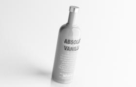 C4D建模:瑞典绝对伏特加Vanilla(香草味)750ml