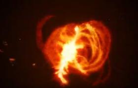 震撼的红色火焰爆炸特效logo显露企业商标渲染视频AE模板