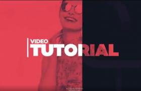 三种不同尺寸的炫酷时尚彩色标题图文展示栏目宣传片头AE视频模板
