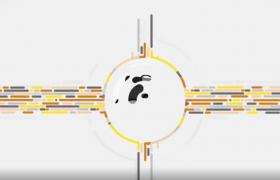 十字线条圆形流动企业产品logo展示宣传活动开场AE视频模板