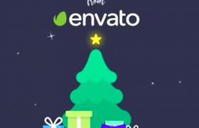 欢庆的圣诞Christmas礼物祝福前预热宣传AE动画模板