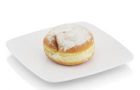 超高精度食物逼真的焦糖面包C4D模型(含材质图片)