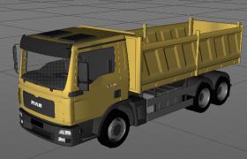 建筑工地工程运输车卡通儿童玩具C4D模型