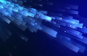未来感十足的蓝白相间特效背景视频素材下载