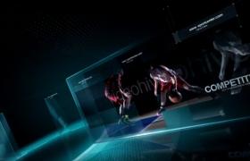 体育综艺频道体育竞技栏目包装宣传开场片头视频AE模板