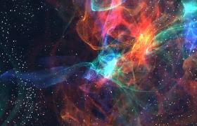 ?兩邊星云朝中間重重環繞特效高清視頻素材