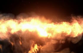 火焰喷射特效logo展示片头开场会声会影下载