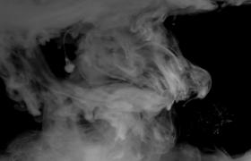 白色煙霧和灰色煙霧融合擴散背景光效特效素材下載