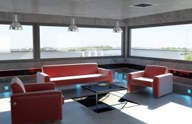 C4D建模:寬闊視野+明亮采光的奢華室內設計模型展示
