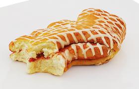 奶油+蜂蜜甜面包西点甜品促销展示C4D模型