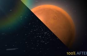 行星旋转蒙版快速叠加色彩改变全球新闻栏目开场动画AE模板