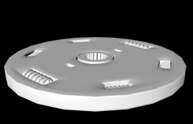 汽车变速箱离合器片机械零件C4D模型obj格式