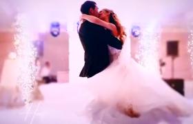 纪念浪漫婚礼电子相册展示视频AE模板
