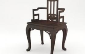 C4D仿古家具:中式古典格调韵味椅子模型