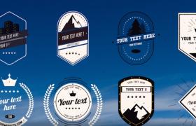 八種風格不同的影視欄目復古特色標簽AE設計模板