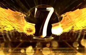 满屏金色翅膀倒计时年会开场动画AE模板
