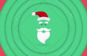 彩色卡通圓形擴散動畫切換圣誕節慶祝會聲會影模板下載