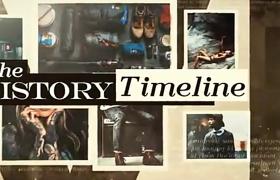 時間遞增的紀念照片集展示視頻AE模板