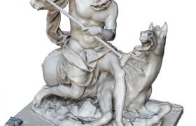 古希腊神话故事海王星海神C4D人物雕塑模型
