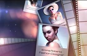 優雅震撼電影膠片明星照片視頻展示AE模板