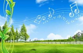 温柔轻缓的夏日清晨影视视频场景背景轻音乐