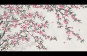 水墨画诗仙李白吟诗喝酒悠闲生活古风视频素材下载