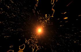 金色粒子旋轉放射忽明忽暗企業宣傳年會舞臺背景視頻素材