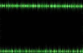 綠色波紋科技矩形邊框震撼音頻可視化效果特效視頻素材