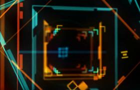 酷炫科技边框形状变幻动感DJ年会晚会舞台背景LED视频素材下载