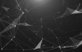 4K点线粒子链接平面构建三维动感企业宣传年会舞台背景视频素材
