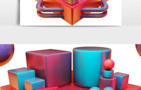 購物狂歡節節目促銷產品活動代金劵c4d模型(含貼圖)