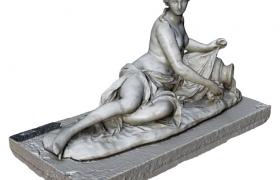 C4D建模:裸露的女性人物石膏雕塑c4d模型下载