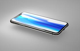 全高光材质制作iphoneX苹果手机C4D模型预览(含渲染图片)