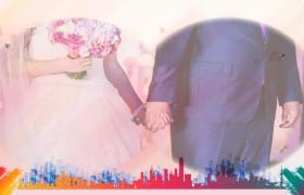 粉色温馨浪漫图文并茂求婚结婚婚礼会声会影模板