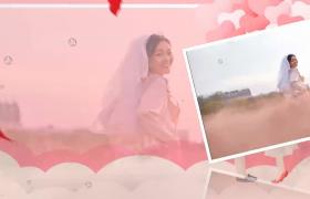 甜蜜溫馨戀愛相冊婚慶婚禮圖文展示會聲會影模板