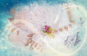彩色水墨晕染结婚恋爱浪漫甜蜜相册会声会影模板参考