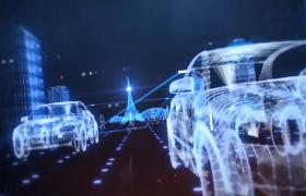 科技光线特效会声会影科技城市企业年会片头模板