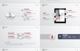 紅字嚴謹實用時尚個性競聘框架完整動態PPT模板