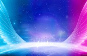 炫彩渐变梦幻翅膀创意抢眼设计展板海报平面模板