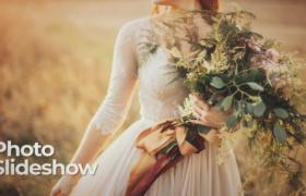 PR婚礼婚庆预设:优雅高端的西式婚礼暖色系生活主题快速幻灯片视频模板