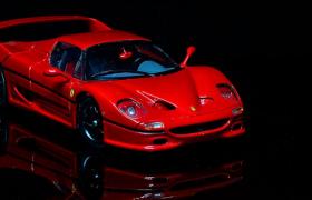 紅色的熱血猛獸法拉利FerrariF-50C4D模型(含貼圖)