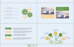 中国风绿色小清新论文答辩PPT模板