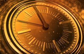 金色大氣的五秒時鐘倒計時新年歡慶視頻片頭素材下載