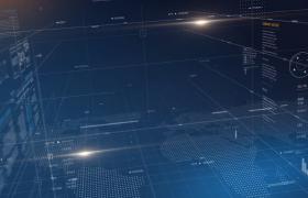 AI智能展望未來科技視頻宣傳震撼4維空間藍色數字開場動畫PR模版