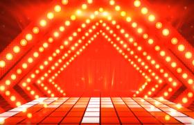 红色喜庆春节晚会公司企业年会LED舞台背景高清视频素材