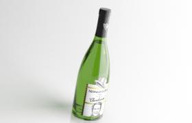 酒吧吧台酒类C4D模型绿色果酒预览(含材质图片)