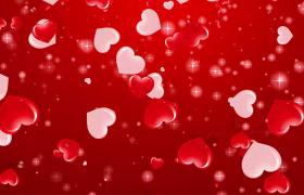 浪漫爱心唯美坠落婚庆结婚典礼会声会影视频展示