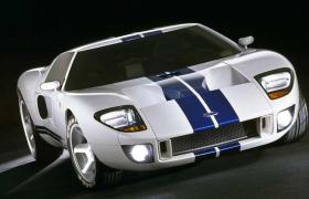 美国福特公司旗下经典概念车型GT-40经典跑车C4D模型